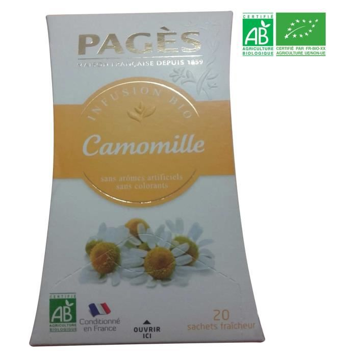 PAGES Infusion Camomille Bio