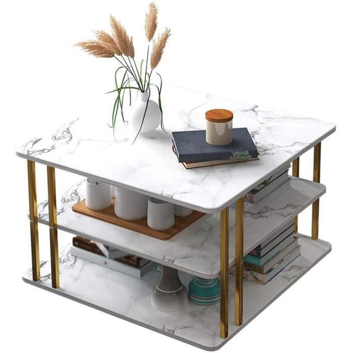 Table basse Square Side Table 2 Couches en Métal Rétro Table À Thé Salon Balcon Petit Appartement Canapé Nuit Accueil 60 * 60 [680]