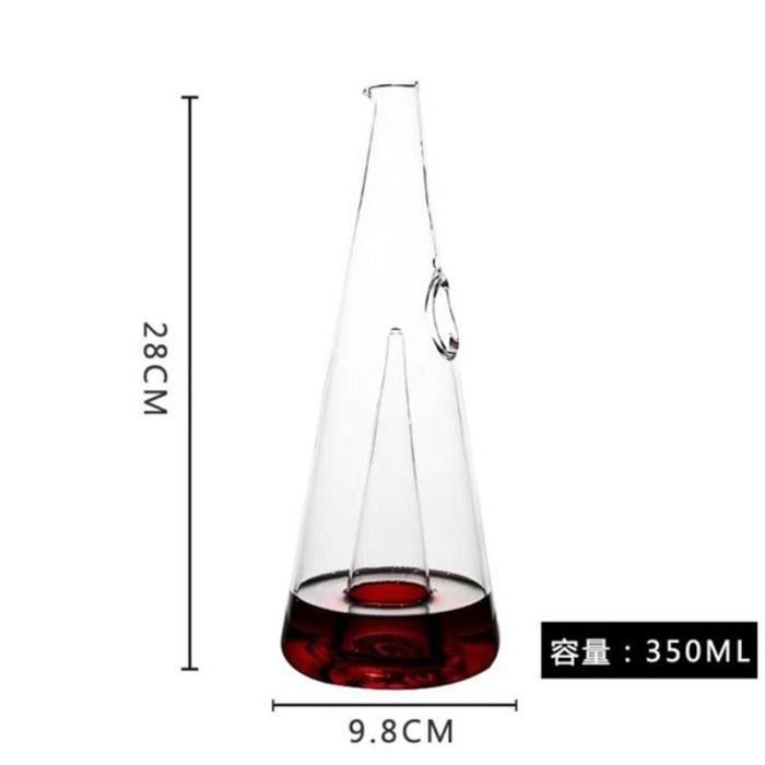 Verres à vin,350-750ml pyramide cascade rouge vin verseur verre décanteur Brandy carafe Bar Champagne bouteille d'eau - Type 350ml