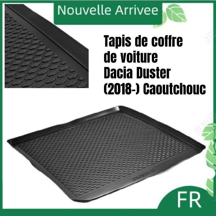 Caise shenghuo - Tapis de coffre de voiture robuste pour Dacia Duster (2018-) en Caoutchouc noir
