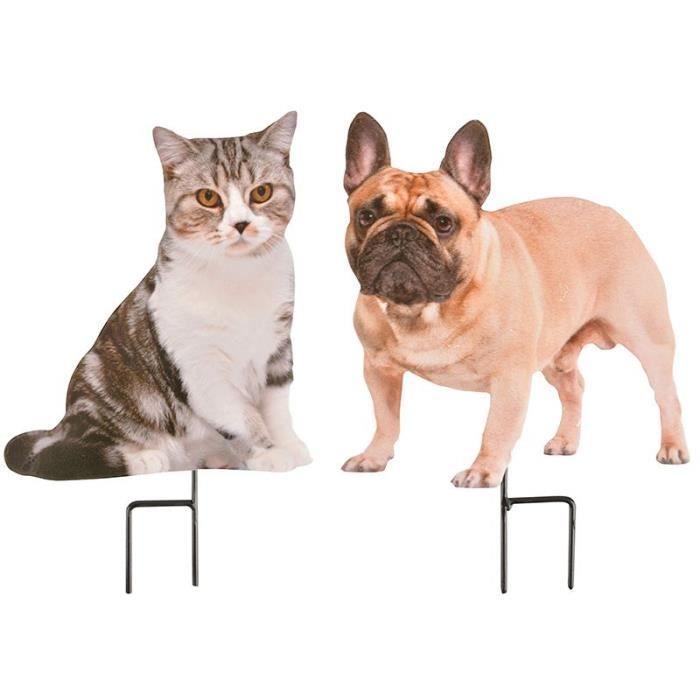 Chat et chien sur pique (Lot de 2) Multicolore