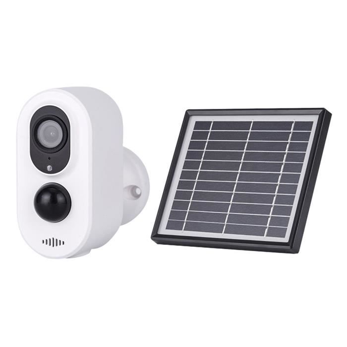 Sans fil WiFi PIR de Sécurité IP Caméra 1080p Étanche Humaine Extérieure de Détection de Mouvement, Panneau solaire 5W