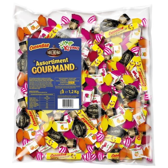 KREMA Bonbons Assortiment Gourmand en vrac - 1,2 kg
