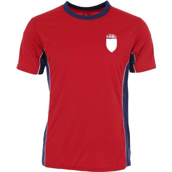 Tee-Shirt Fan Lille - Licence Officielle LOSC - Rouge.