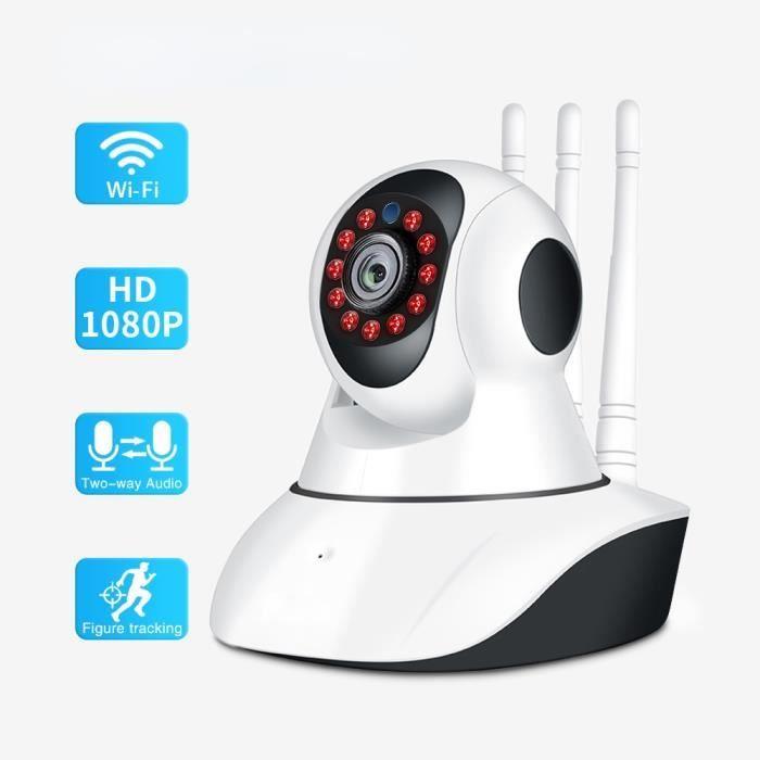 Babyphone Vidéo Blanc Sans Fil Caméra IP Wifi Vision Nocturne Audio Bidirectionnel Sécurité à Domicile Pour Bébé Nounou