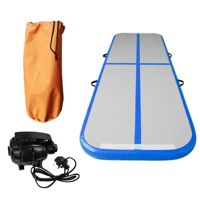 Tapis gonflable de gymnastique avec le tapis de yoga de protection de culbuteur d'air de pompe à air 700W