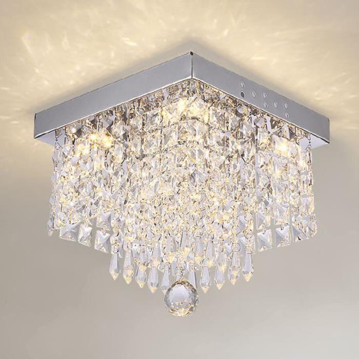 Suspendu à Plafonnier en Cristal Lustre 20cm Suspension en Cristal Moderne pour la Cuisine Couloir Salon - Lumière Chaude