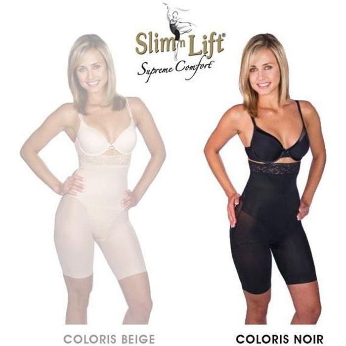 Panty Slim N Lift Gaine Amincissante Effet Minceur et Galbant Couleur Noir - Taille S