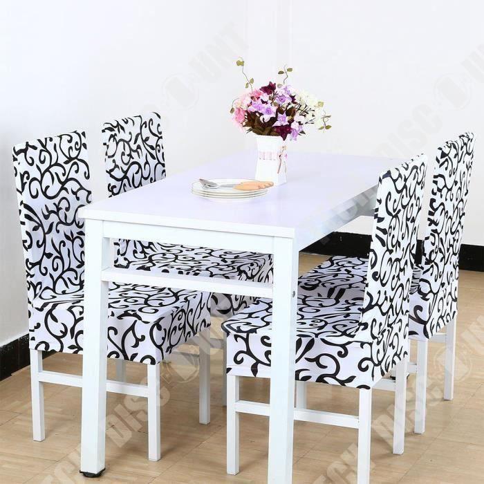 TD® Housse de chaise extensible de salle a manger décoration tendance et moderne design motif pour embellir chaises intérieur