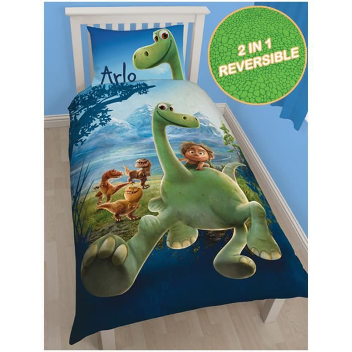 housse de couette disney good dinosaur arlo 1 personne achat vente housse de couette. Black Bedroom Furniture Sets. Home Design Ideas