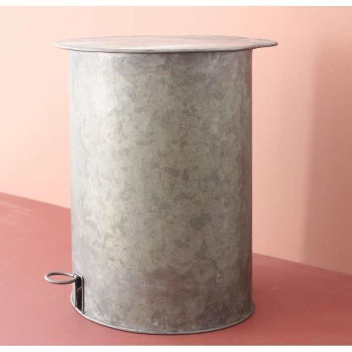 Poubelle broc en zinc