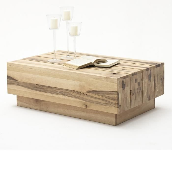 table basse en bois ch ne 100x65 cm achat vente table basse table basse en bois ch ne 1. Black Bedroom Furniture Sets. Home Design Ideas