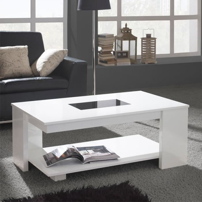 table basse relevable blanche dipa taille l 110 x l. Black Bedroom Furniture Sets. Home Design Ideas