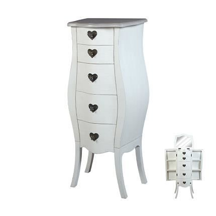 meuble bijoux 5 tiroirs achat vente commode de chambre. Black Bedroom Furniture Sets. Home Design Ideas