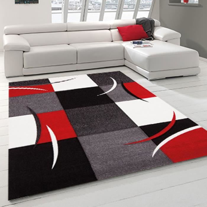 allotapis tapis d 39 int rieur pour salon rouge cal achat. Black Bedroom Furniture Sets. Home Design Ideas