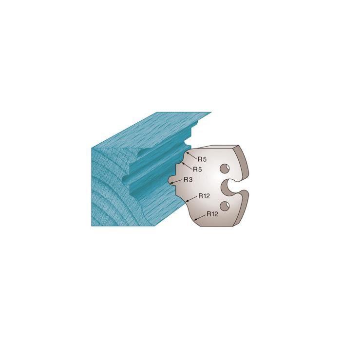 jeu de fers 40mm entr/'axe 24mm n° 120 quart de rond et congé rayon 20 mm