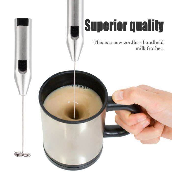 Électrique Batteur Appareil à faire mousser le lait verre mélangeur Cappucino café Foamer Handheld