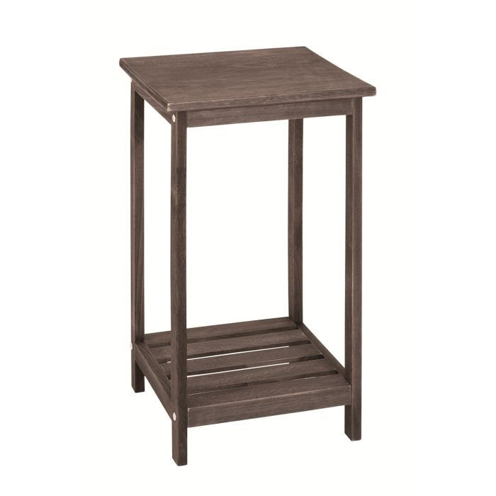 Table d 39 appoint swithome telo marron achat vente table for Petite table d appoint exterieur