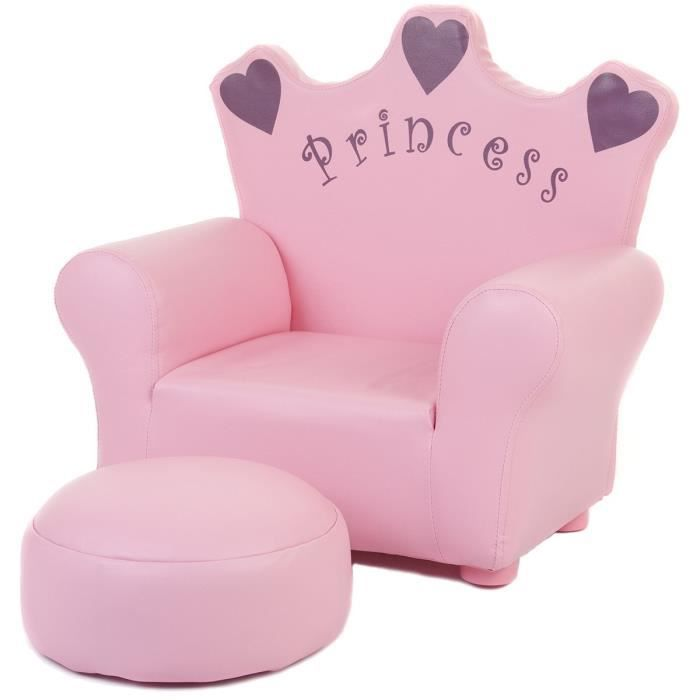 fauteuil et pouf princesse pour enfant xt9 58a p achat. Black Bedroom Furniture Sets. Home Design Ideas