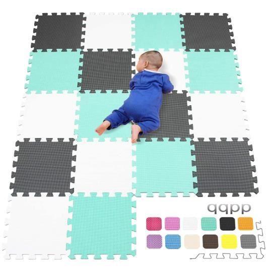 18 pcs bébé éveil Puzzle Tapis Eva Tapis Mousse Tapis Kids Play HOME 30X30 cm