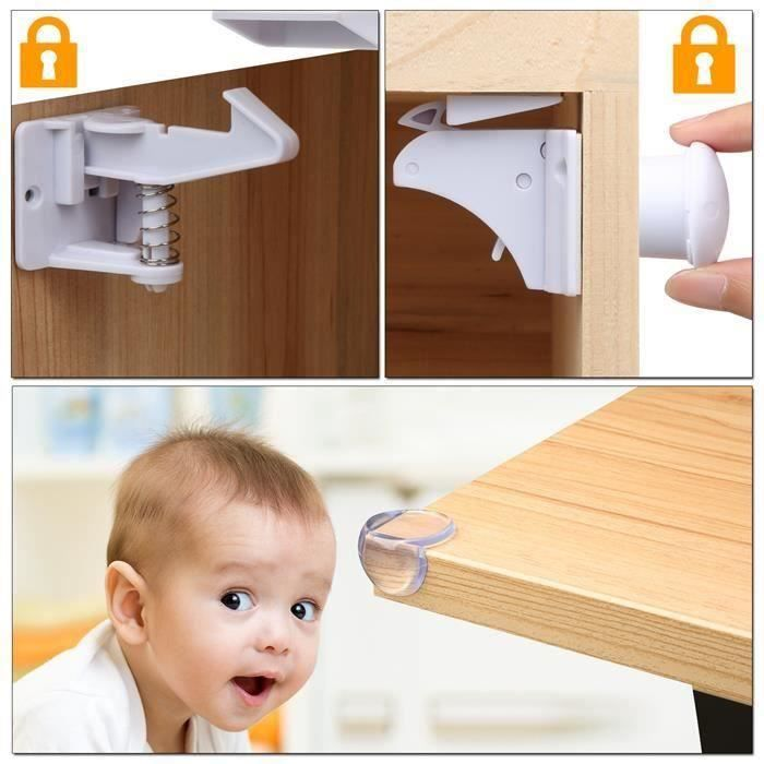 Baby Safe protection invisible Loquet Verrou De Sécurité Enfant Tiroir Porte Cabinet nous