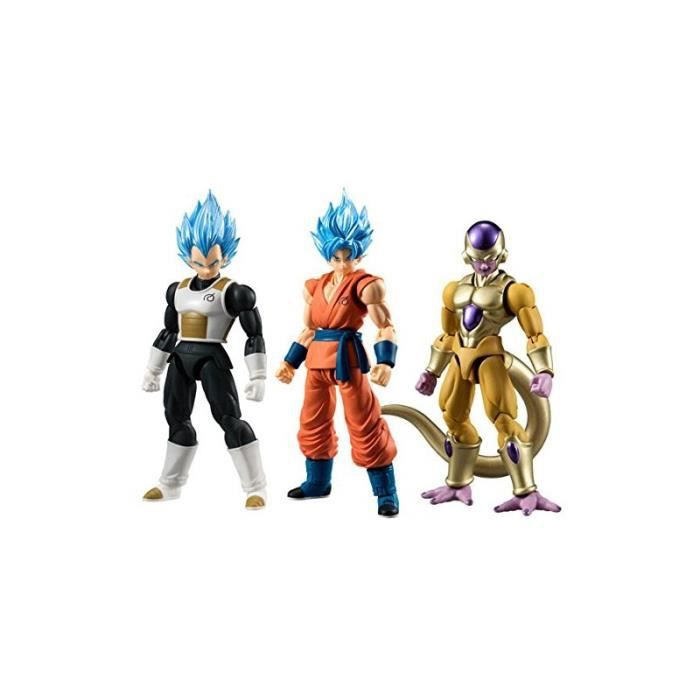 figurine dragon ball z lot de 3 figurines dbz shodo resurrection 8cm achat vente figurine. Black Bedroom Furniture Sets. Home Design Ideas