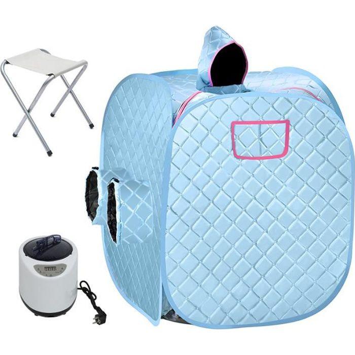 Spa de Sauna Portable /à Usage Personnel Argent Sauna Pliable env avec Chaise Bo/îte de Sauna 88/×76/×99 cm