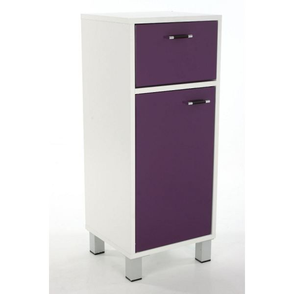 meuble bas salle de bain violet achat vente petit. Black Bedroom Furniture Sets. Home Design Ideas