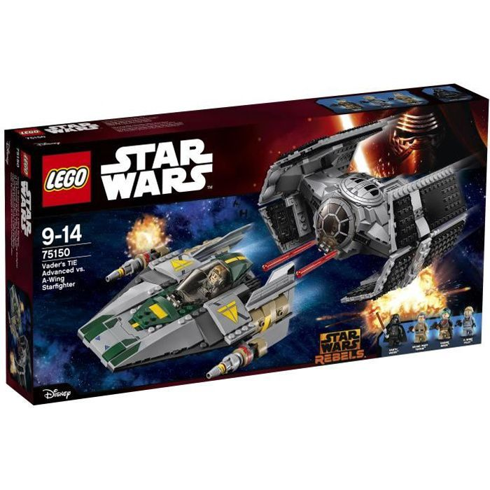 ASSEMBLAGE CONSTRUCTION LEGO® Star Wars™ 75150 Le TIE Advanced de Dark Vad