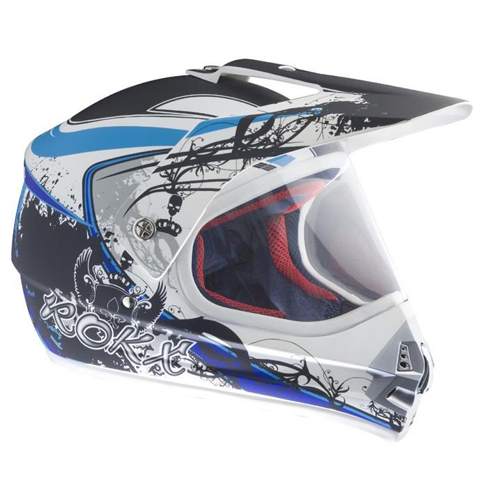 rokx casque street cross arctic blue achat vente casque moto scooter casque street cross. Black Bedroom Furniture Sets. Home Design Ideas