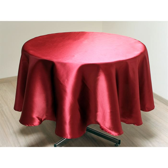 Nappe ronde satin framboise achat vente nappe de table - Nappe de table carre ...