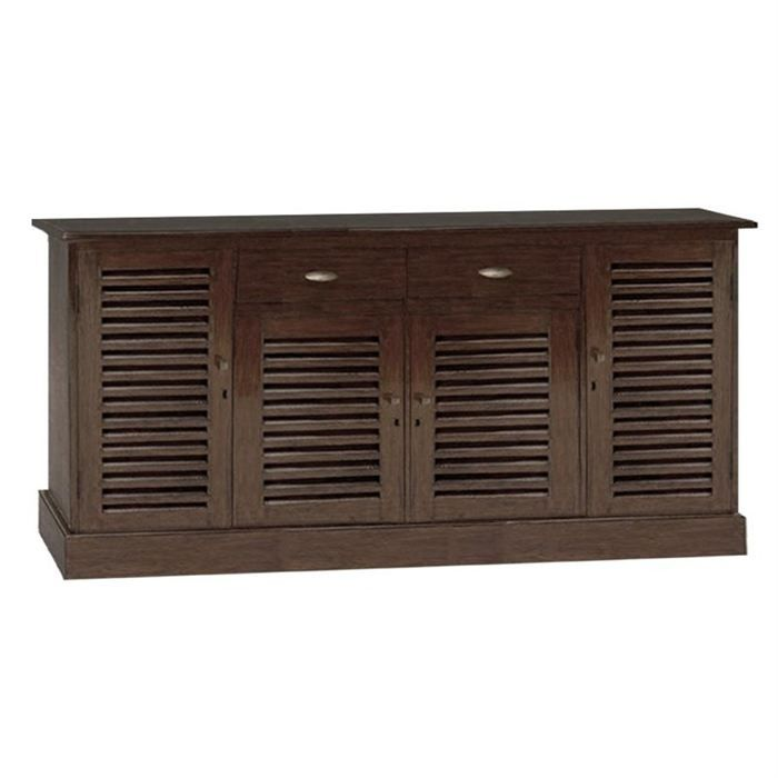 Buffet colonial 4 portes persiennes 2 tiroirs achat vente buffet bahut - Buffet style colonial ...