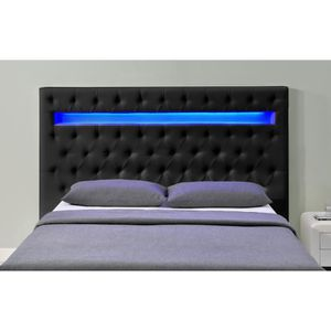 t te de lit led achat vente t te de lit led pas cher cdiscount. Black Bedroom Furniture Sets. Home Design Ideas