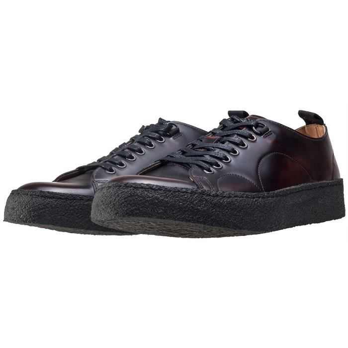 Fred Perry X George Cox Creeper Mid Mixte Baskets Noir - 6 UK GfI9mmK
