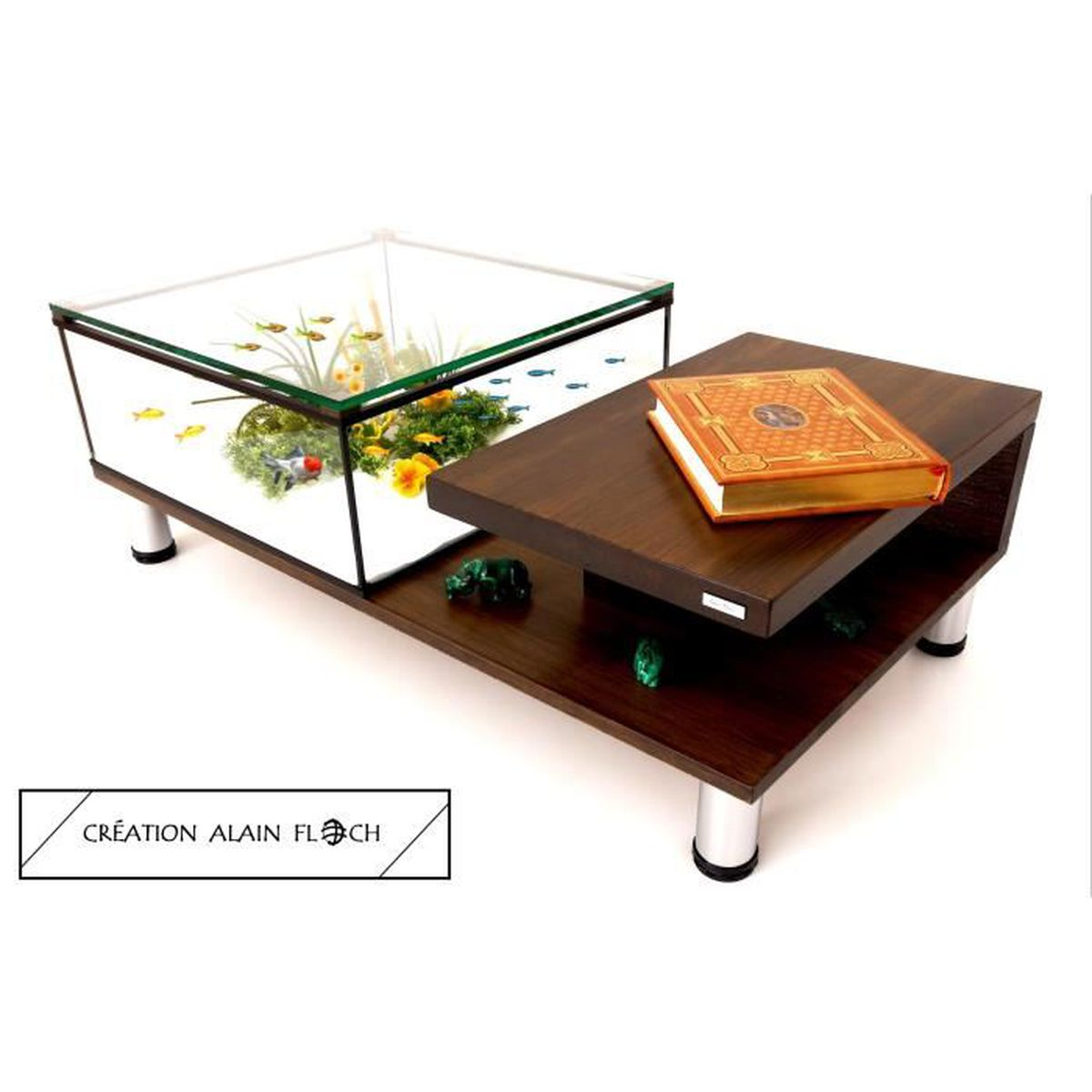 Design Unique Terrarium Annabelia 20 Basse Led Aquarium Table JT3lKFc1
