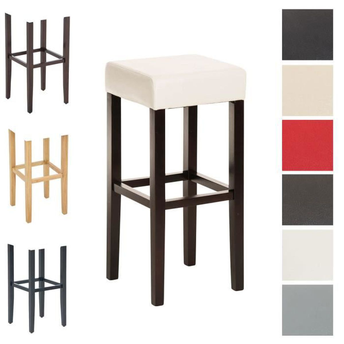 tabouret de bar assise 80 cm achat vente tabouret de bar assise 80 cm pas cher cdiscount. Black Bedroom Furniture Sets. Home Design Ideas