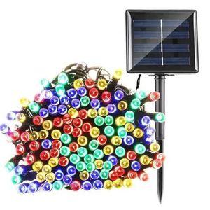 GUIRLANDE D'EXTÉRIEUR Guirlande Lumineuse Solaire 200 Lanterne LED Blanc