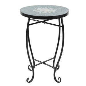 SALON DE JARDIN  HENGL Table d'appoint Mosaïque Table de Vase Tabou
