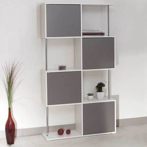 etageres bibliotheque blanc achat vente etageres bibliotheque blanc pas cher cdiscount. Black Bedroom Furniture Sets. Home Design Ideas