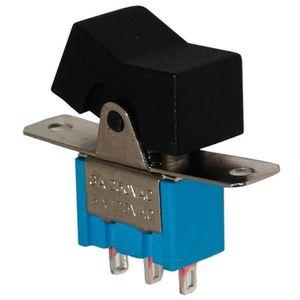 Interrupteur commutateur contacteur bouton /à bascule noir SP3T ON-OFF-ON 10A//250V 10A//28V 3 positions AERZETIX
