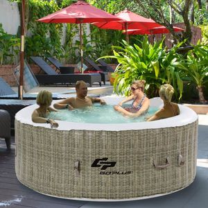 SPA COMPLET - KIT SPA COSTWAY Jacuzzi Gonflable 180 x 180 x 65 CM Spa Ro