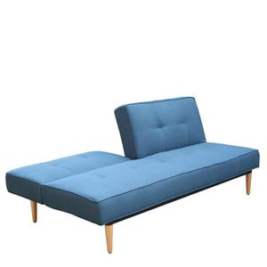 Canap convertible bleu achat vente canap convertible for Divan 3 places elran