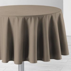nappe ronde taupe achat vente nappe ronde taupe pas cher cdiscount. Black Bedroom Furniture Sets. Home Design Ideas