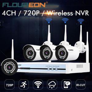CAMÉRA DE SURVEILLANCE Floureon 4CH Kit de vidéo surveillance de sécurité