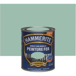PEINTURE - VERNIS Hammerite fer martelé 0.75l vert jade