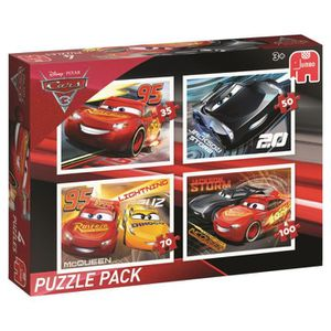 PUZZLE puzzle Jumbo Disney Cars3 4in1 Puzzle Pack