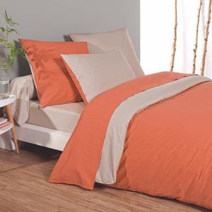 drap housse orange achat vente drap housse orange pas cher cdiscount. Black Bedroom Furniture Sets. Home Design Ideas