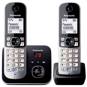 Téléphone fixe Panasonic KX-TG6822 Duo Téléphones Sans fil Répond