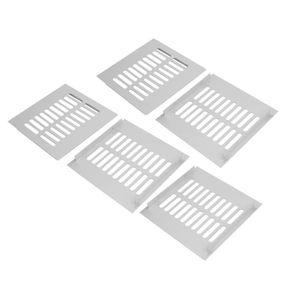 ARMOIRE DE CHAMBRE sourcingmap 5pcs 150mmx150mm alliage aluminium per