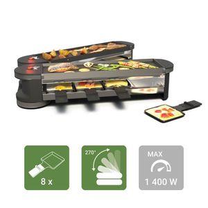 APPAREIL À RACLETTE SUNTEC Raclette RAC-8151 Flex 8 metal/metal [pour